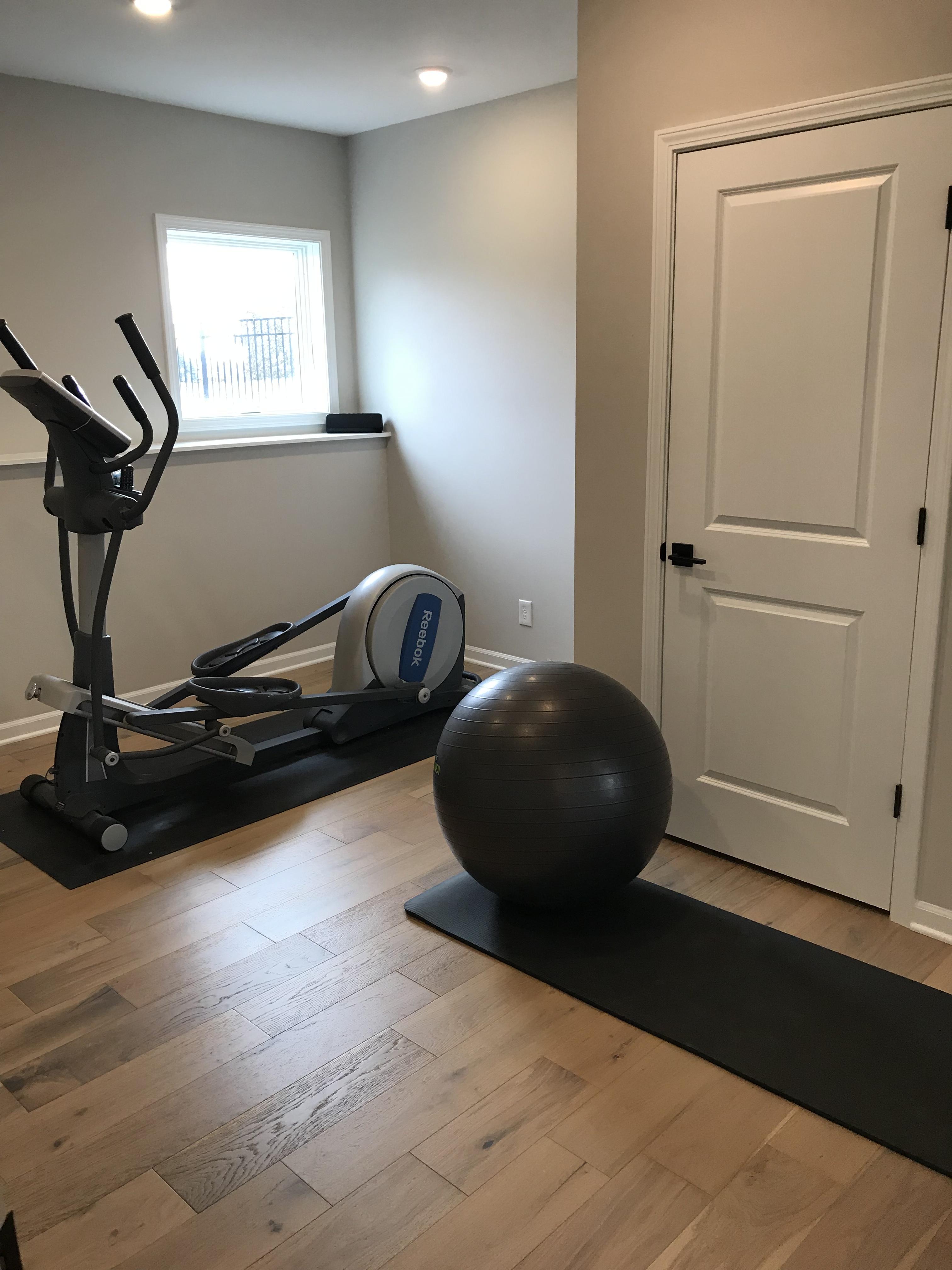 Lower level home gym reveal u renew home interiors